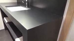 un meuble en beton cire pour une salle de bain design With beton cire dans une salle de bain
