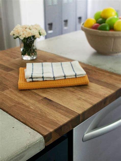 cuisine bois beton plan de travail en b 233 ton 43 id 233 es d 238 lots et de