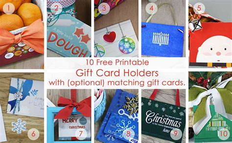 Over  Printable  Ee  Gift Ee    Ee  Card Ee   Holders For The Holidays Gcg