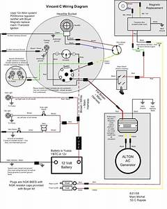 12 Volt Alternator Wiring Diagram : vincent motorcycle electrics ~ A.2002-acura-tl-radio.info Haus und Dekorationen