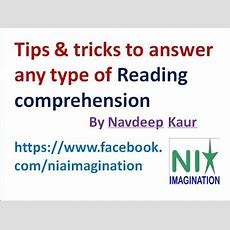 Reading Comprehension Tips & Tricks To Answer Any Type Of Reading Comprehension Youtube