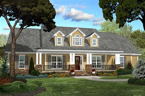 Country Style House Plan  4 Beds 25 Baths 2250 Sqft