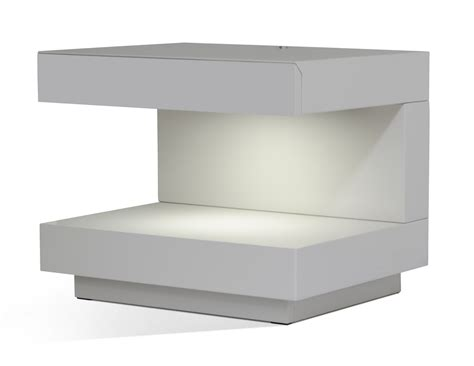modern white nightstand furniture fancy image of modern 2 drawer glossy