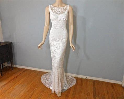 Ivory Bohemian Wedding Gown, Hippie Boho Wedding Dress