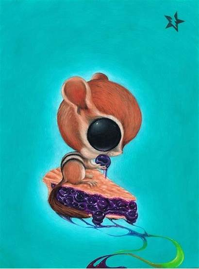 Chipmunk Fueled Sugar Blueberry Pop Rainbow Pie