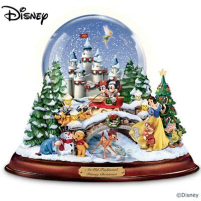 fashioned disney christmas musical snowglobe