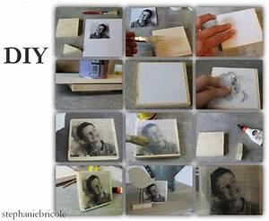 Cadre A Faire Soi Meme : diy d co transf rer une photo sur du bois my diy diy diy photo et photo mural ~ Nature-et-papiers.com Idées de Décoration