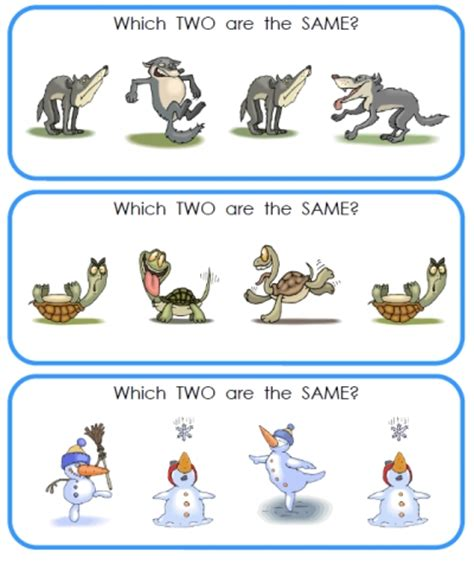 Silly Same And Different  Printable Kindergarten
