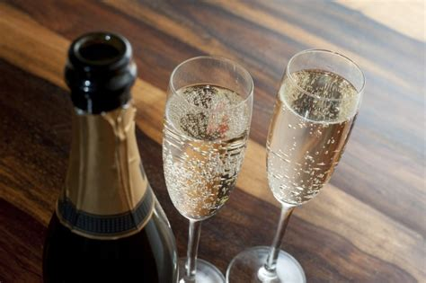 flutes  chilled champagne  stock image