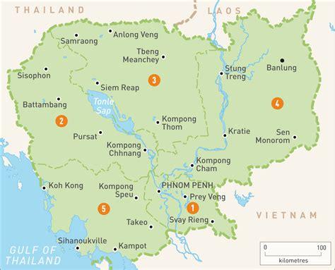map  cambodia cambodia regions rough guides