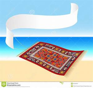 Magic Carpet With Banner Stock Photography - Image: 33104612