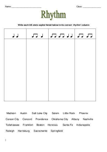 Music Theory Rhythm Worksheets  Elementary Music Worksheets  Pinterest  Teaching, Activities