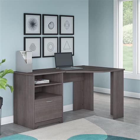 gray corner desk bush cabot corner desk in gray wc31715k