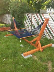 Diy Hammock Stands by Inexpensive Diy Hammock Stand Tutorial House And Room