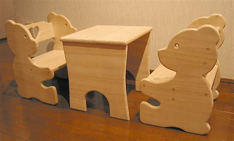 bear chair  table set  kids  steps  pictures