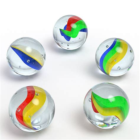 colored marbles 3d colored marbles model
