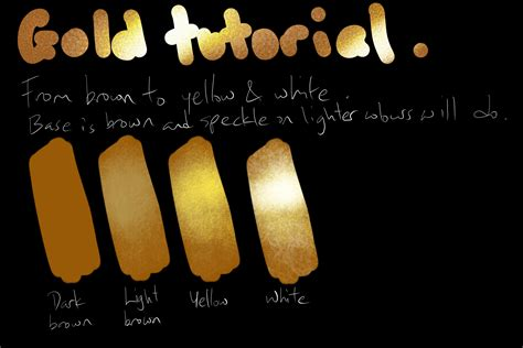 how to paint gold color gold tutorial by kangghee on deviantart