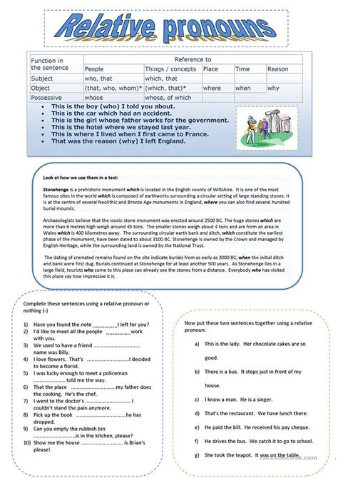 Worksheet Relative Pronouns Worksheet Grass Fedjp Worksheet Study Site