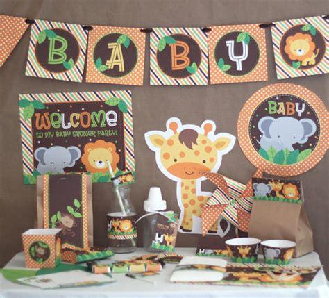 animal themed baby shower decorations safari jungle baby shower decorations printable instant
