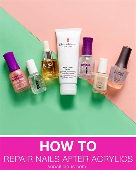 how to refurbish a how to repair nails after acrylics