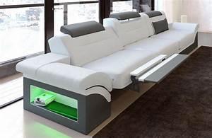 Couch Mit Beleuchtung : modernes sofa monza als 3 sitzer couch mit beleuchtung kaufen bei pmr handelsgesellschaft mbh ~ Frokenaadalensverden.com Haus und Dekorationen