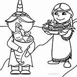 Coloring Pilgrim Boy Indian Harvest Printable Cool2bkids Pilgrims 850px Xcolorings sketch template