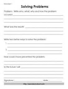 Behavior Problem Solving Worksheets