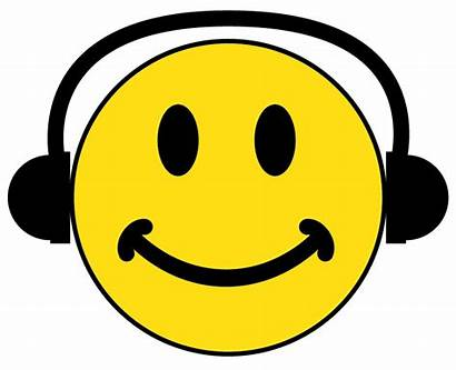 Smiley Headphones Face Faces Clipart Head Wearing