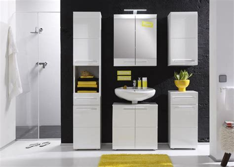 furnline bora high gloss bathroom furniture tall cabinet