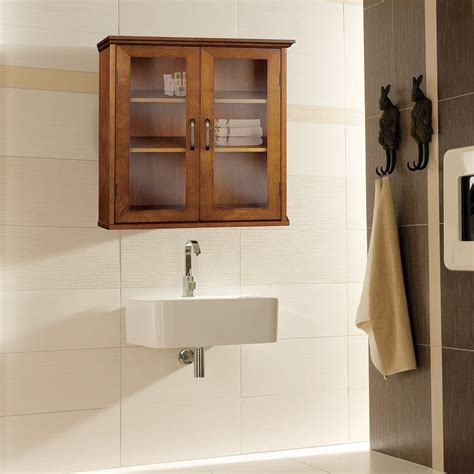 oak bathroom wall cabinets shop home fashions avery 20 5 in w x 24 in h x 8 5
