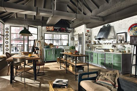 cuisine style loft b b cuisines on atelier lshades and kitchens