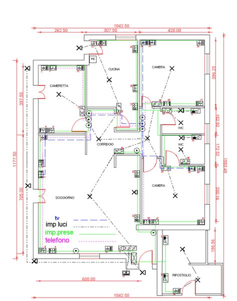 Disegno Impianto Elettrico Appartamento disegno impianto elettrico di un appartamento