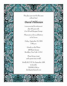 retirement party invitations templates print your own With retirement program template