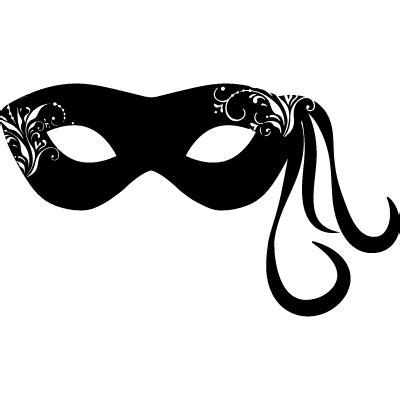carnival mask  hanging ornamental lines   side