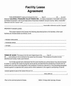 9 facility agreement templates free sample example With facilities rental agreement template