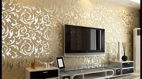 Wallpaper Design For Home Interiors by 43 Wallpaper For Living Room Walls Modern Silver Glitter