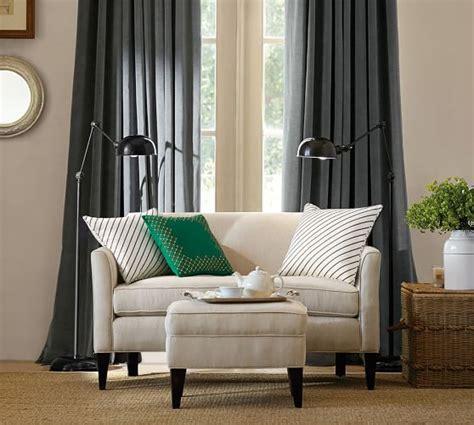 Mini Sofa For by Marcel Upholstered Mini Sofa Pottery Barn