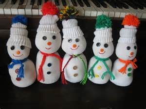 Tube Sock Snowman Craft