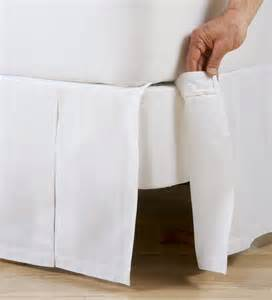 box pleated cotton bed skirt linens plow hearth