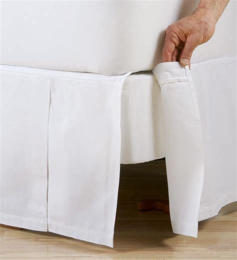 Box Pleat Bed Skirt by Box Pleated Cotton Bed Skirt Linens Plow Hearth