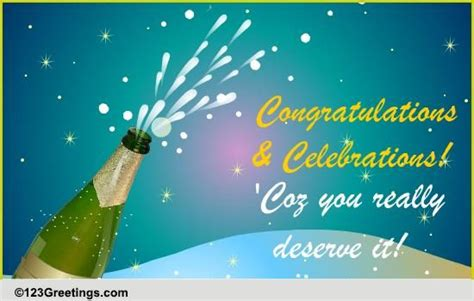 I am really very happy for this big achievement of yours. Congratulations Business & Workplace Cards, Free ...