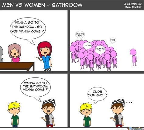 Men And Women Memes - men vs women bathroom by inmoeview meme center