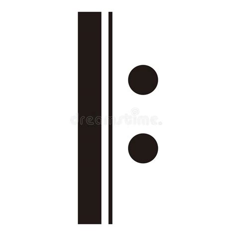 Begin repeat ( or left repeat): Isolated Repeat Sign. Musical Note Stock Vector - Illustration of clipart, melody: 112612295