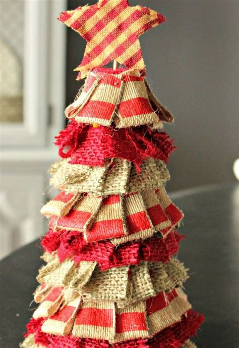 how to make cheap christmas decorations a quick cheap rustic burlap christmas tree hometalk