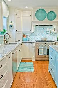 best 25 turquoise kitchen ideas on pinterest colored With kitchen colors with white cabinets with beach signs wall art