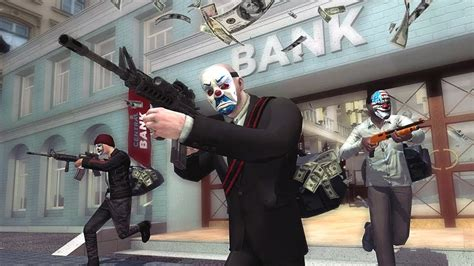 bank robbery clown mafia gangster scary hd squad game