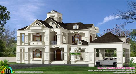 colonial luxury house plans 5 bedroom luxury colonial home 3150 sq ft kerala home