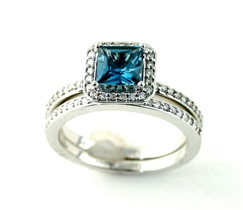 14k london blue topaz engagement ring matching band by
