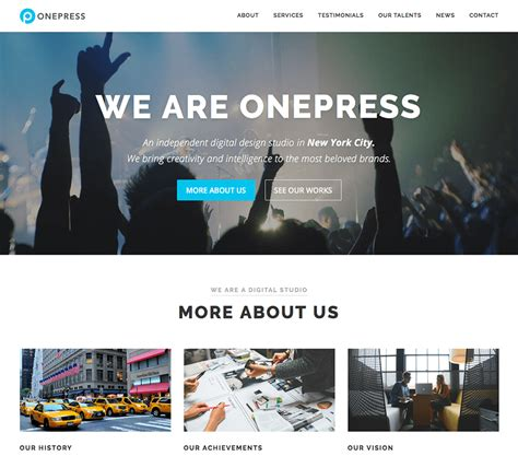 page wordpress theme  onepress