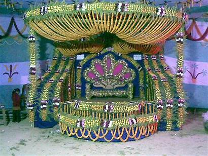 Stage Simple Holud Gaye Decoration Idea Programs